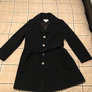 Michael Kors Wool Blend Single Breasted Pea Coat
